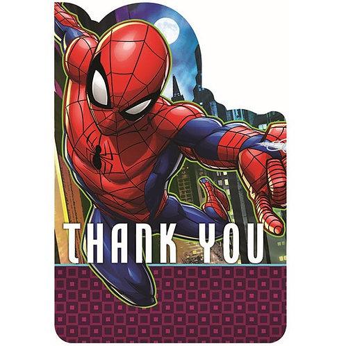 Spider-Man Webbed Wonder Postcard Thank You 8ct