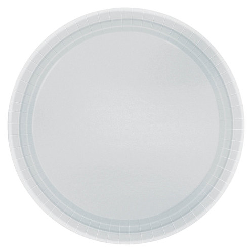 Silver 7in Paper Plates 20ct