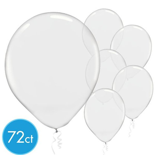 Clear Latex Balloons - Packaged, 72ct