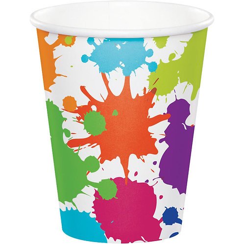 Art Party Paper Cups 8ct