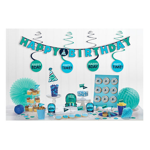 Birthday Accessories Blues Mini Decorating Kit