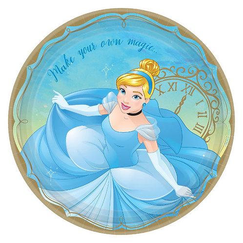Disney Princess Lunch Plates 8ct - Cinderella