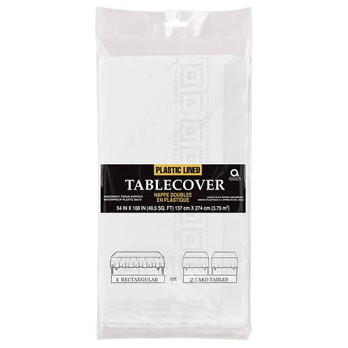 """White Paper Table Cover 54"""" x 108"""""""
