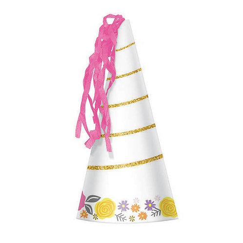 Magical Unicorn Horn Party Hats 8ct
