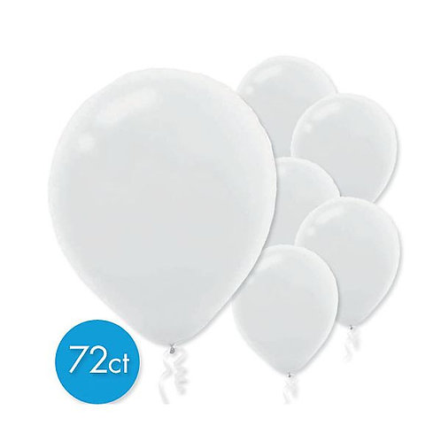 White Latex Balloons - Packaged, 72ct