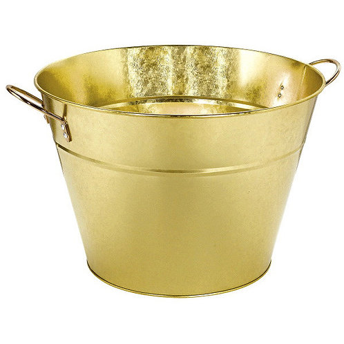 Gold Metal Party Tub