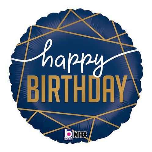 #333 Navy Birthday 18in Balloon