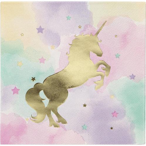 Unicorn Sparkle Lunch Napkins 16ct