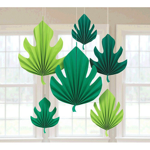 Palm Leaf Shaped Fan Decorations