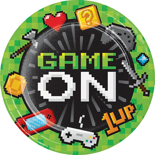 Gaming Party Lunch Plates 8ct