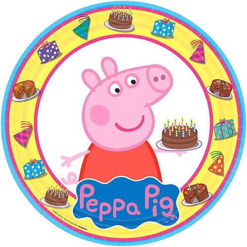 Peppa Pig Lunch Plates 8ct