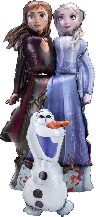 Frozen 2 Elsa Anna Olaf 58in Airwalker Balloon
