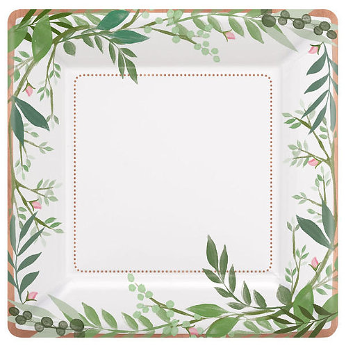 Love And Leaves Dinner Plates 8ct