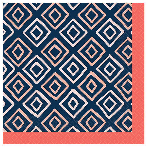Pantone Diamond Beverage Napkins - 16ct