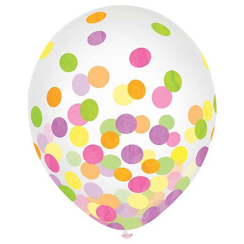 Pastel Confetti 12in Latex Balloons 6ct