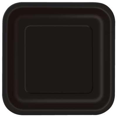 Black Square 9in Dinner Plates 14ct