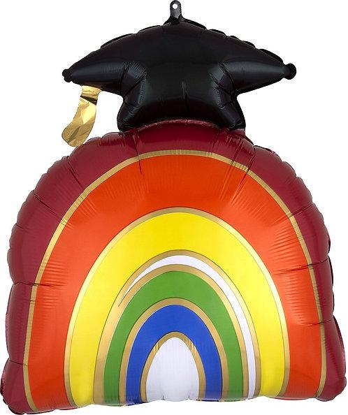 #GSS16 Grad Rainbow 23in Mylar Balloon