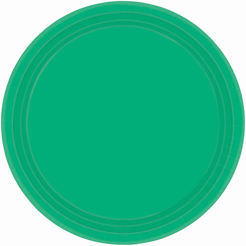 Green 9in Paper Plates 20ct