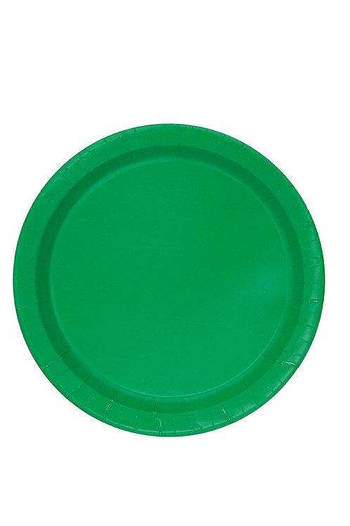 "Emerald Green Round 9"" Dinner Plates 16ct"