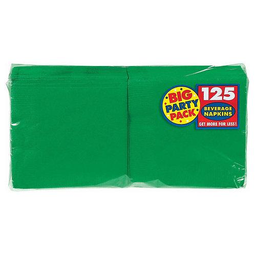 Green Beverage Napkins 125ct