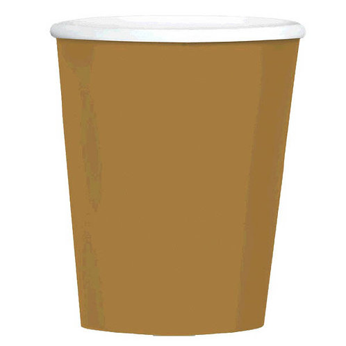 Gold 12 oz. Paper Coffee Cups 40ct