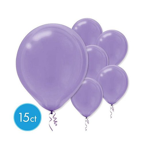 Purple Latex Balloons - Packaged, 15ct