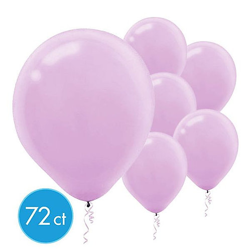 Lavender Latex Balloons - Packaged, 72ct