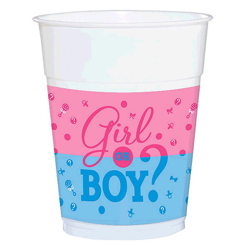 Girl or Boy? Plastic Cups 25ct