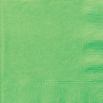 Lime Green Beverage Napkins 20ct