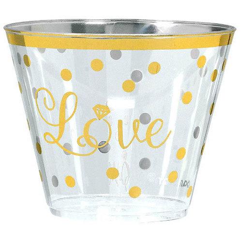 """""""Love"""" Plastic Premium 9oz Tumblers 30ct"""