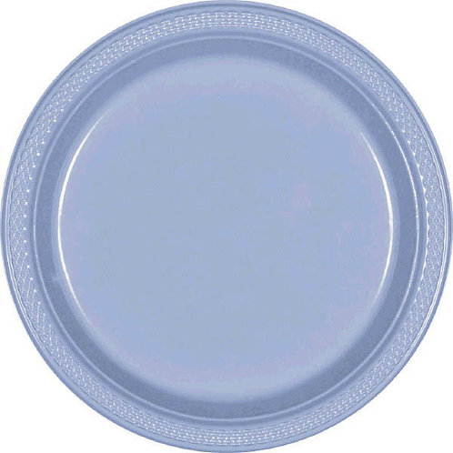 Light Blue 7in Plastic Plates 20ct