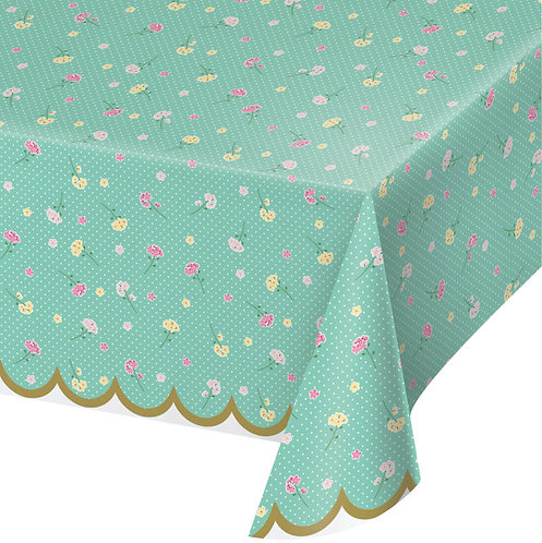 Floral Tea Party Table Cover