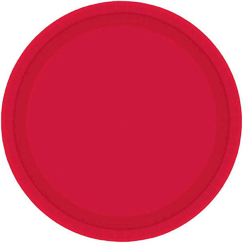 Red 7in Paper Plates 20ct
