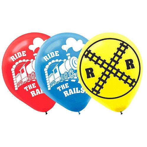 Thomas All Aboard Printed Latex Balloons 6ct