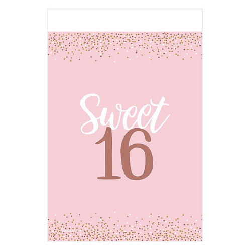 Blush Sixteen Plastic Table Cover
