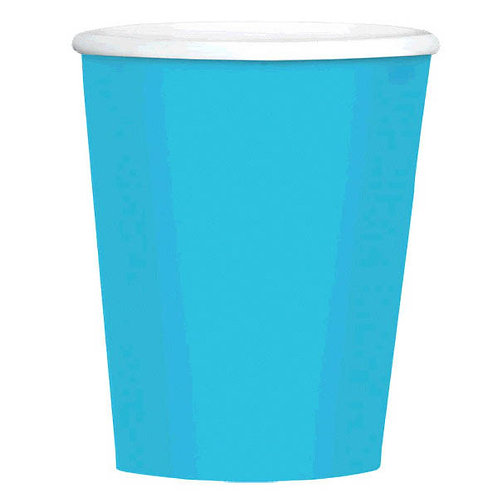 Caribbean Blue 12 oz. Paper Coffee Cups 40ct