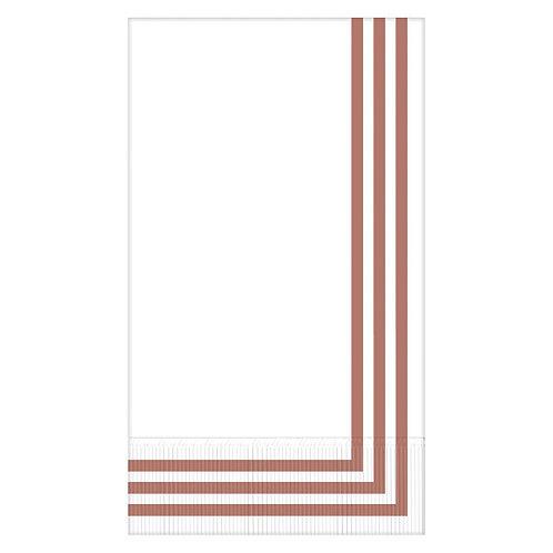 Classic Stripe Rose Gold Premium Guest Towels 16ct