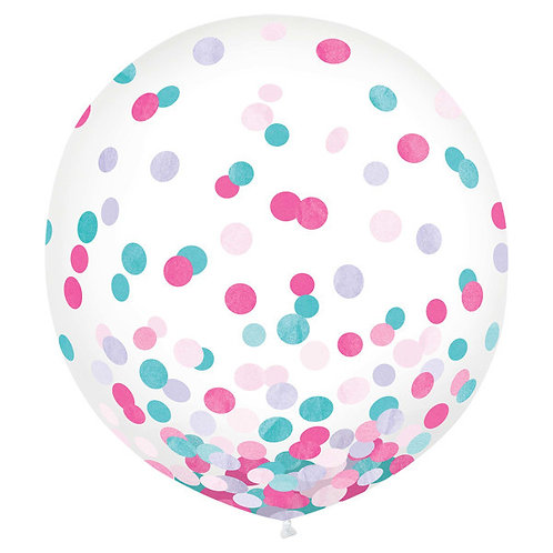 Girls Confetti 24in Latex Balloons 2ct
