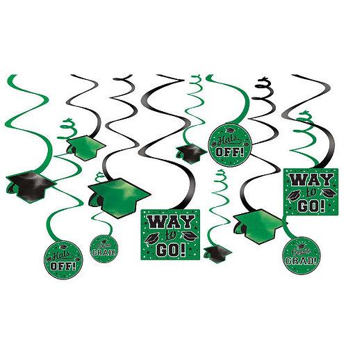 Grad Value Pack Swirl Decorations - Green