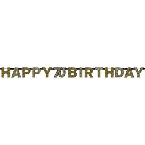 Sparkling Celebration 70 Prismatic Letter Banner