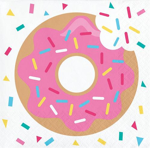 Donut Time Beverage Napkins 16ct