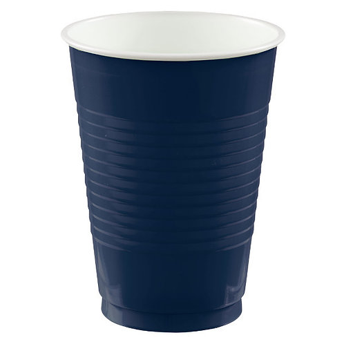 Navy Blue 12oz. Plastic Cups 50ct