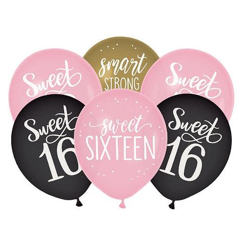 Blush Sixteen Latex Balloons 15ct