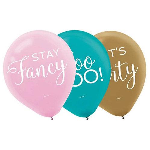Confetti Fun Printed Latex Balloons 15ct
