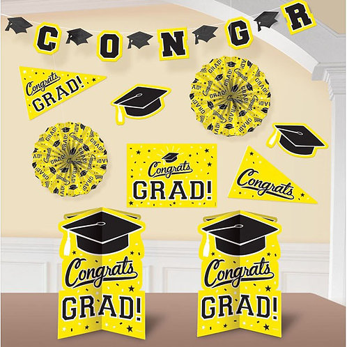 Grad Room Decorating Kit - Yellow