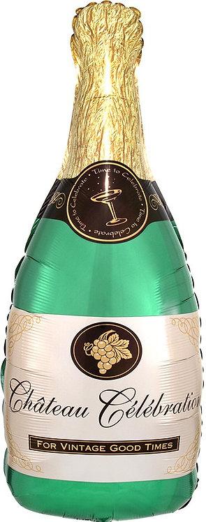 #267 Champagne Bottle 36in Balloon