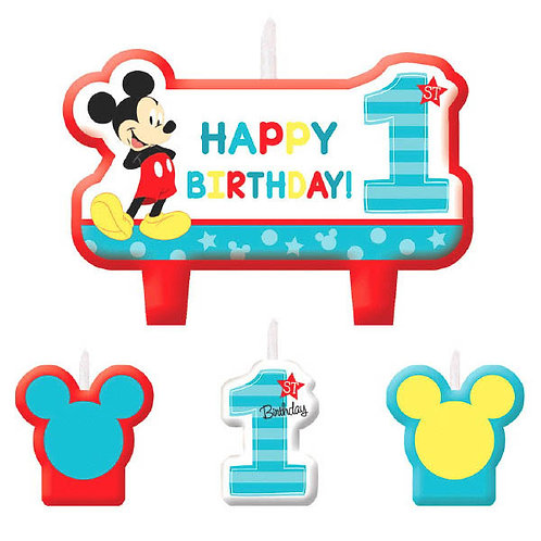 Mickey's Fun To Be One Birthday Candle Set