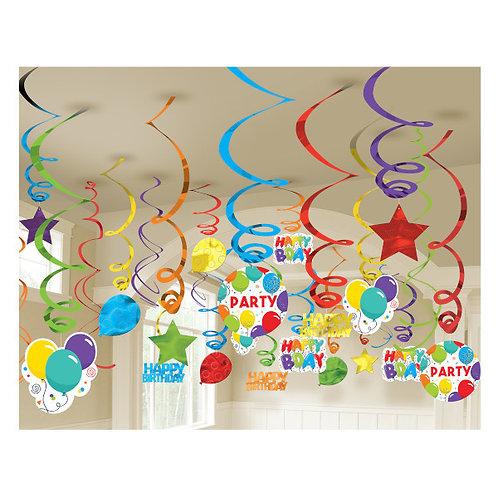 Birthday Celebration Mega Value Pack Swirls