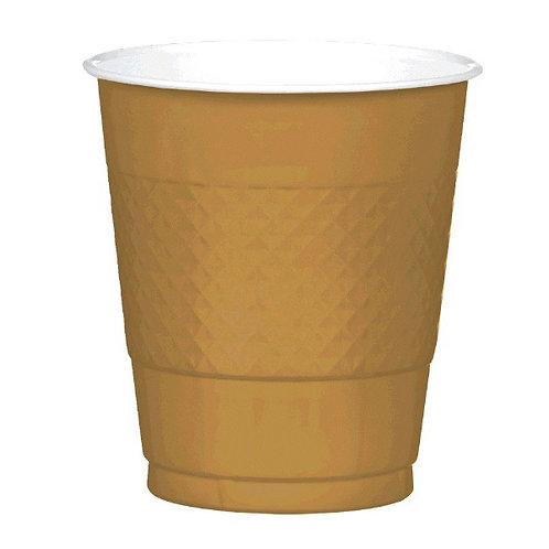 Gold 12oz Plastic Cups 20ct