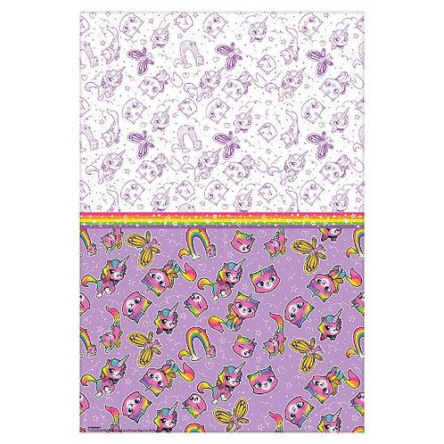 Rainbow Butterfly Unicorn Kitty Plastic Tablecover